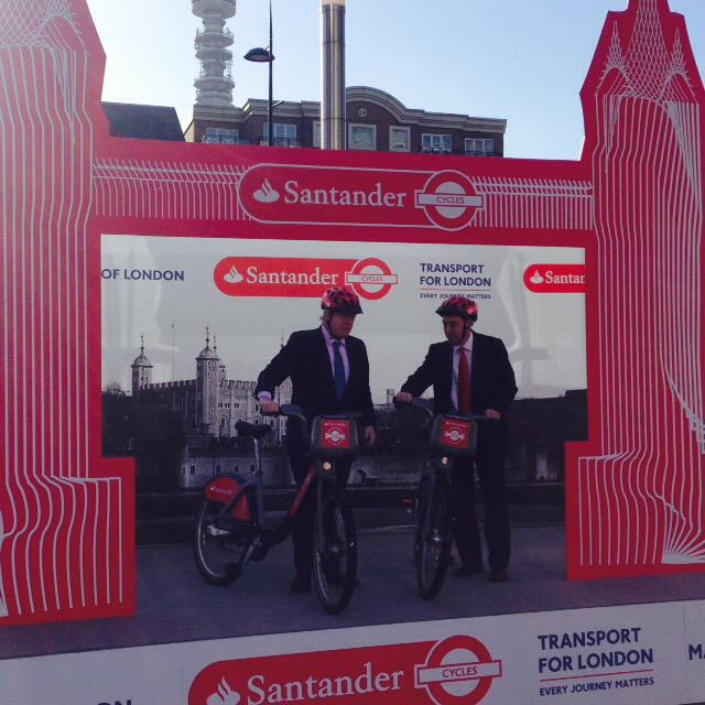 We have a fantastic new red icon for London! @santanderuk are new London Cycle Hire sponsors #SantanderCycles http://t.co/gXd5y4TQGv
