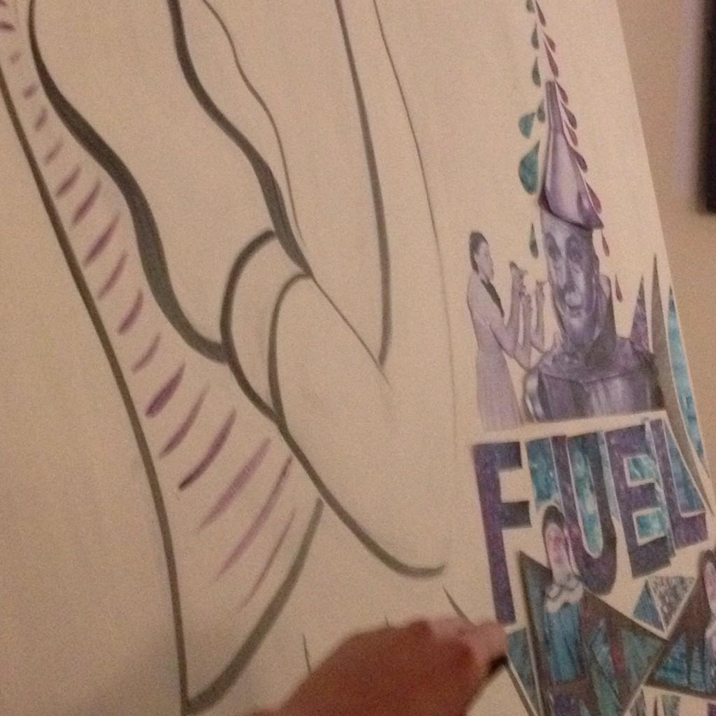 RT @ELX_Art: @LiliasBuchanan combining #collage #performance #painting #drawing #ELXArt @MECUK #FRIDAYFUEL http://t.co/241wHRTtOJ