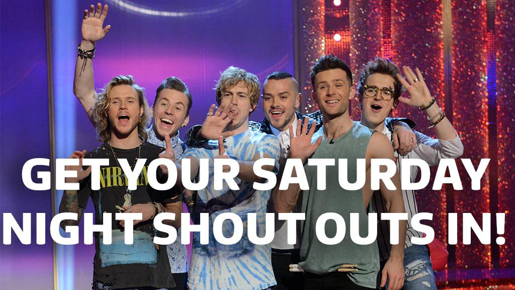 RT @itvtakeaway: Want a shout out from our guests @mcbusted?! Get 'em in using #SaturdayNightShoutOuts! Info: http://t.co/tjDQbsan1Y http:/…