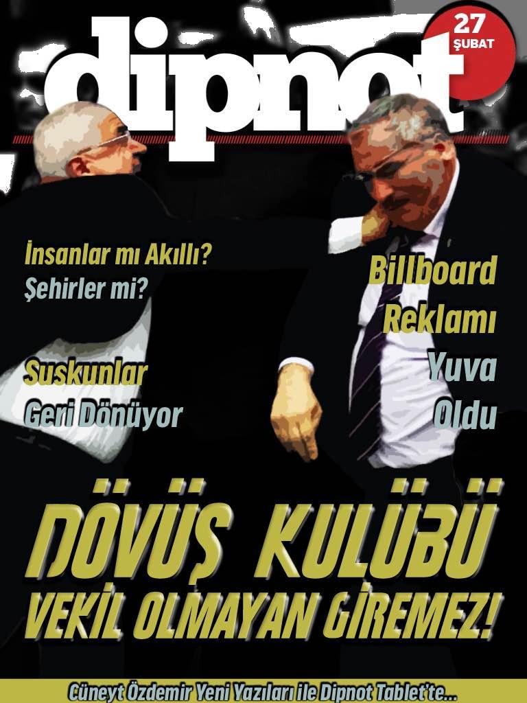 """""""Dövüş Kulübü: Vekil Olmayan Giremez!"""" kapağı ile Dipnot Tablet'in 206. sayısı çıktı – http://t.co/5dfQK2yR3S http://t.co/VktzusUEUj"""