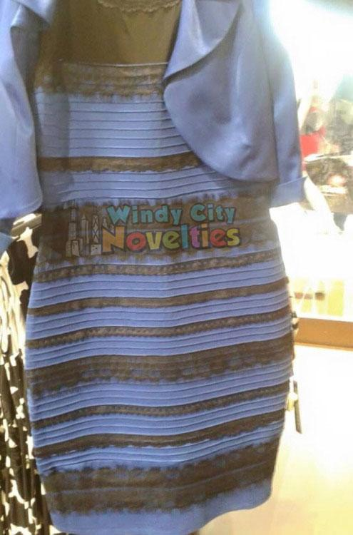 Black and blue or white and gold? We see Windy City Novelties. What do you see? #thedress #whatcoloristhisdress http://t.co/OqJdP3yLnl