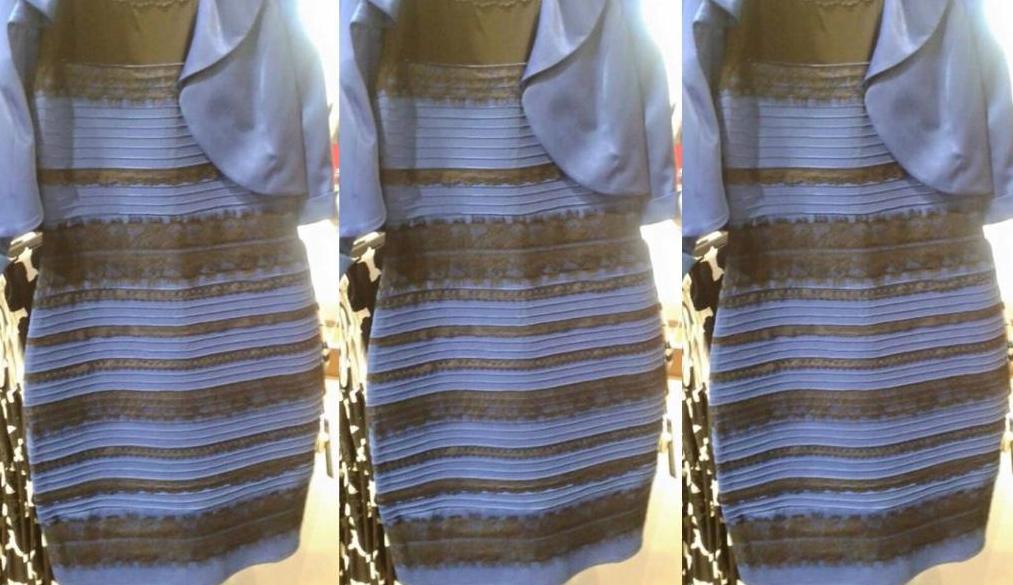 jurk blauw of goud