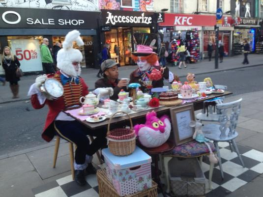 RT @ChilliPRTV: Definitely the most surreal moment of my week - Mad Hatters Tea Party...@TheDappy @comedycentraluk causing trouble..! http:…