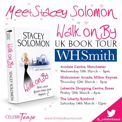 RT @_celebritease: Meet @StaceySolomon!  #WalkOnBy book tour dates announced: http://t.co/GK0UACQIQn
