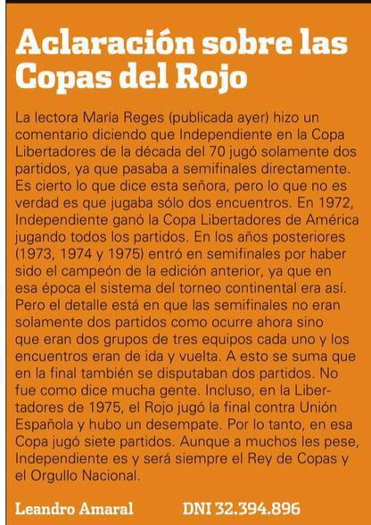 Para los giles que viven hablando sin saber. Averigüen, lean, instrúyanse y aprendan. #Independiente @MartinchoRoldan http://t.co/jBurnWFbDK