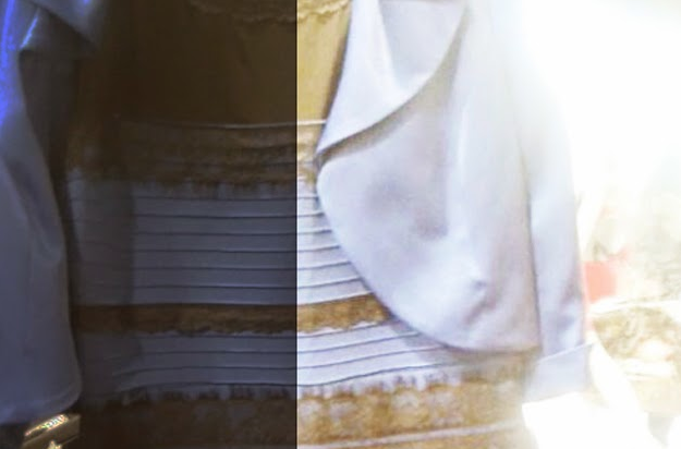 Vestido que unos ven azul y otros blanco