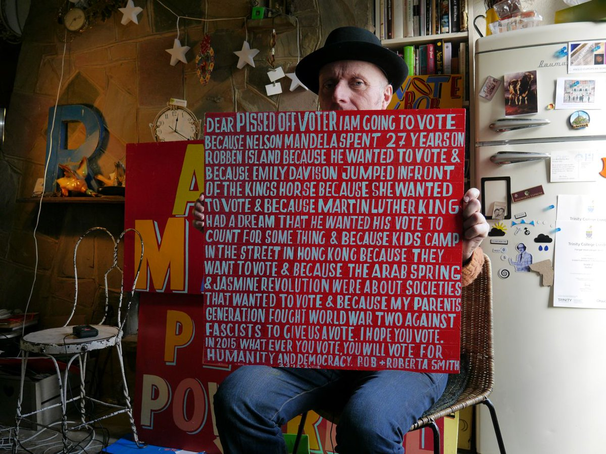 Great morning filming with @BobandRoberta recording his song on why it's vital that people VOTE! http://t.co/9WW2H2jM25
