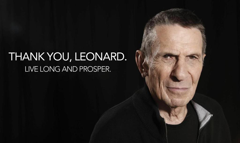 We are deeply saddened by the news of Leonard Nimoy's passing. You will be sorely missed #LLAP http://t.co/AEzPd4ZXyX http://t.co/NDRamQdfjC