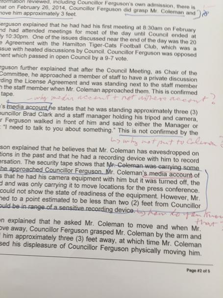 Page 2 marking of #HamOnt IC Report http://t.co/sXHgPxSdCY