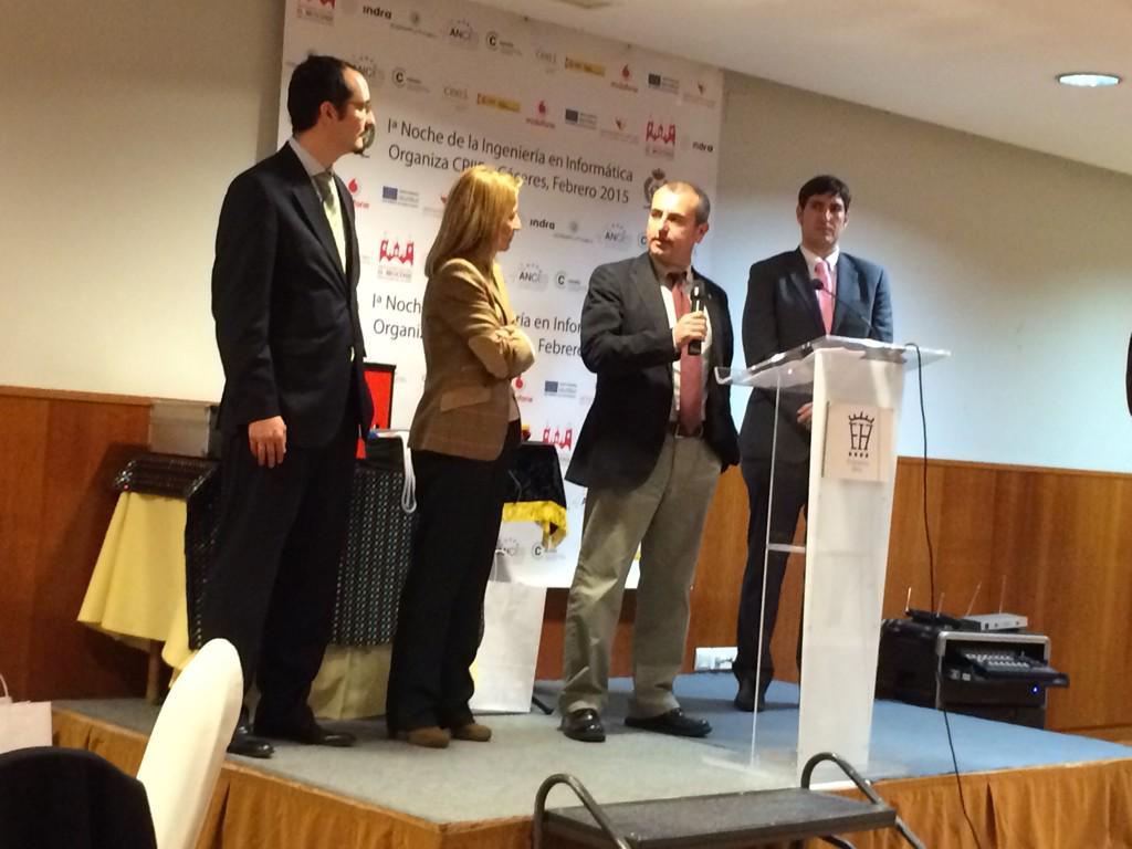 Entrega Premio, Adolfo Lozano y Elena Nevado