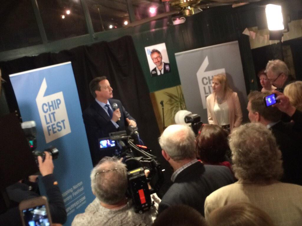 More Jesus RT @swturn3r So pleased for @ChipLitFest team. Great way to launch #ChipLitFest2015 @David_Cameron http://t.co/2u9xz6p0lM