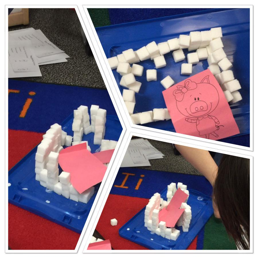 Three little pigs- engineering brick houses in kinder #siglerlearns http://t.co/RBjopsWXQP