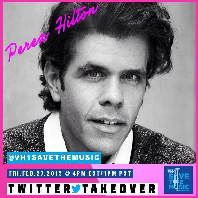 RT @VH1SaveTheMusic: It's almost that time @PerezHilton 😁 #TwitterTakeover http://t.co/7Rf7rRx1rt