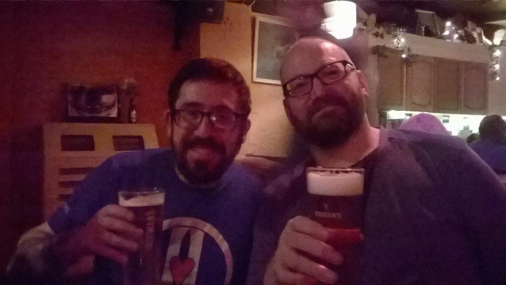 The bromance lives! @ernestopriego and @tickingboy #comicsunconf15 begins! http://t.co/QSfCNrjKFn