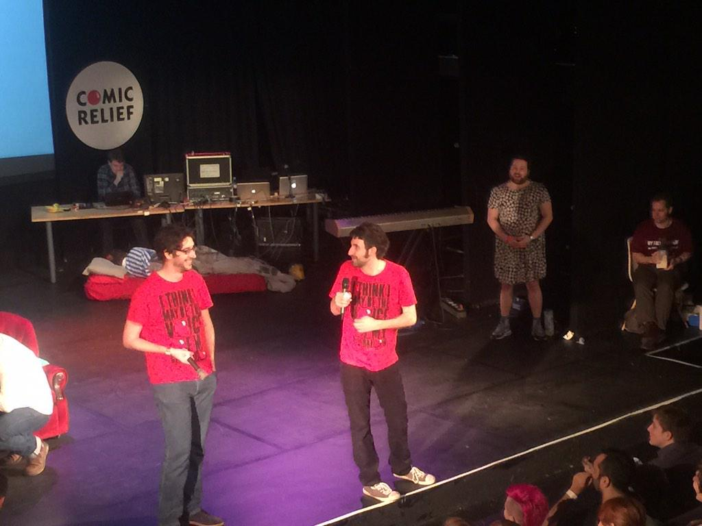 RT @rednoseday: While @watsoncomedian does this for 27 hours he's found a doppelgänger to live the rest of his life for him #watson27 http:…