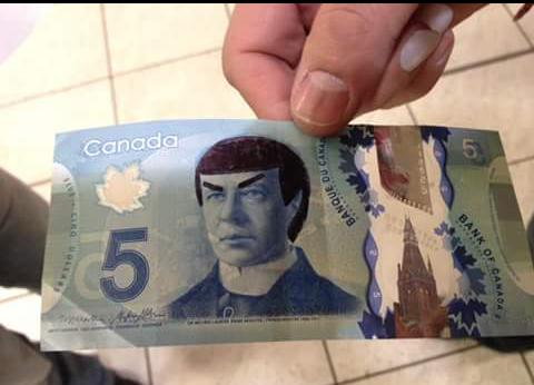 Canadians 'Spock' their $5 bills to honor Leonard Nimoy