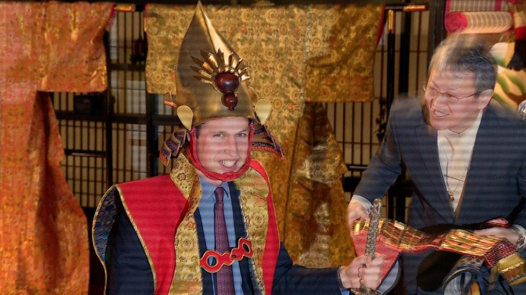 Prince William dressed for battle: http://t.co/UN9qOKMc6o