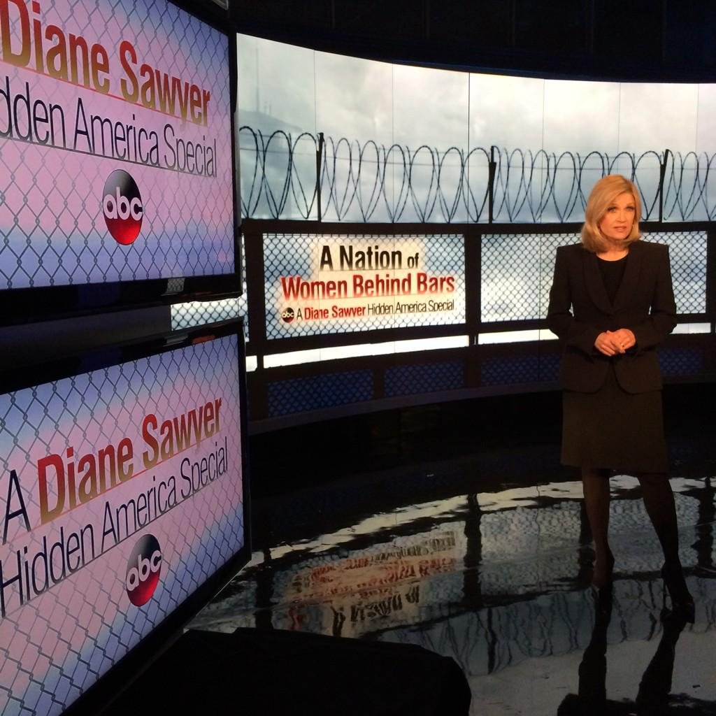 @DianeSawyer and her team reporting on #WomenInPrison right now on @ABC2020. http://t.co/QOK1agIfg9