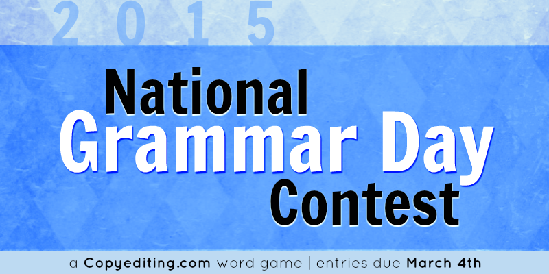 Win a Copyediting subscription! Unscramble our AnaGrammars by March 4, National #GrammarDay! http://t.co/RJ9YW2dMqP http://t.co/XSVRqqYrVX