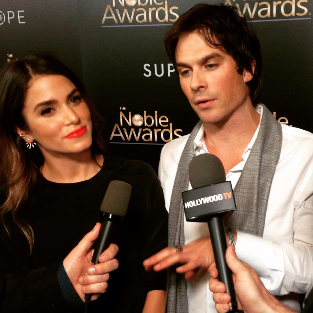 @NikkiReed_I_Am and @iansomerhalder  on the red carpet at the #NobleAwards http://t.co/vx047kfKJh