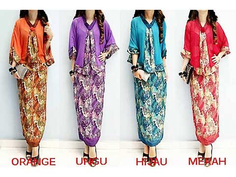 Jual Baju Batik on Twitter Long Dress batik kombinasi blazer