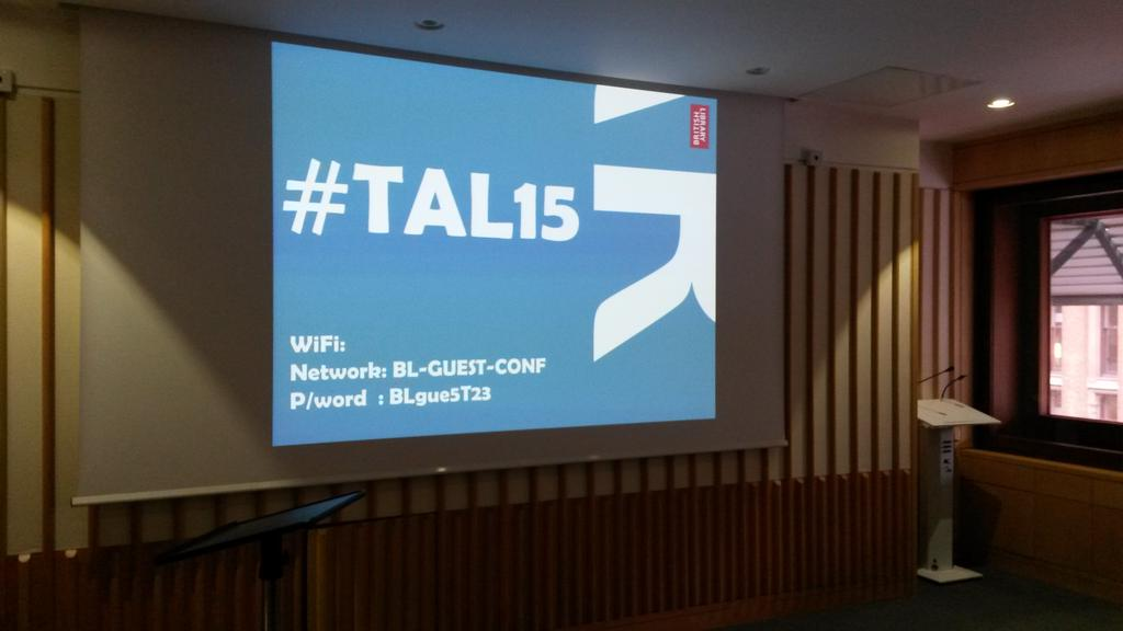 #TAL15 unconference on all things #hyperlocal about to kick off @britishlibrary http://t.co/abKntw3m7h
