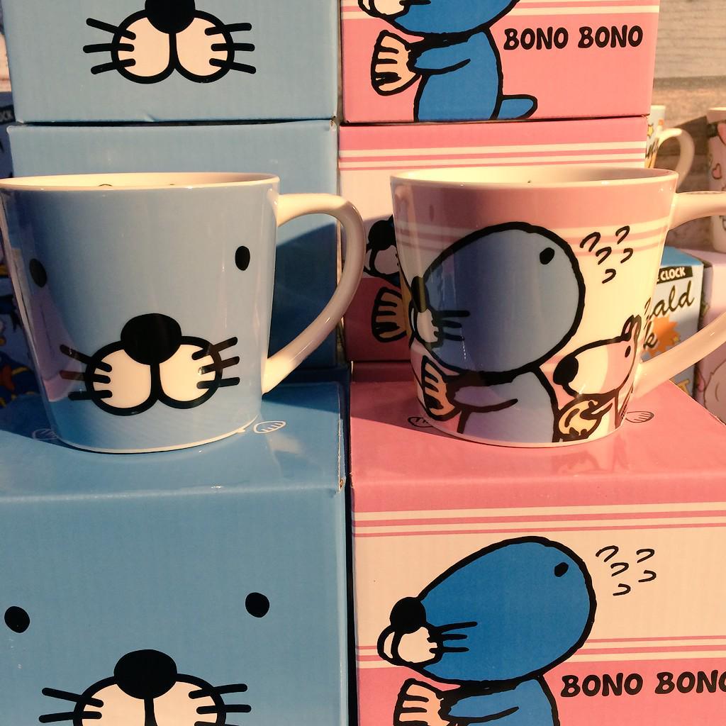 ♡ぼのぼのマグカップ♡ カンカンと同じ柄のマグカップも入荷してます!カップの中も!裏も!とにかく可愛すぎ♡♡ http://t.co/xxNIDb8NIz