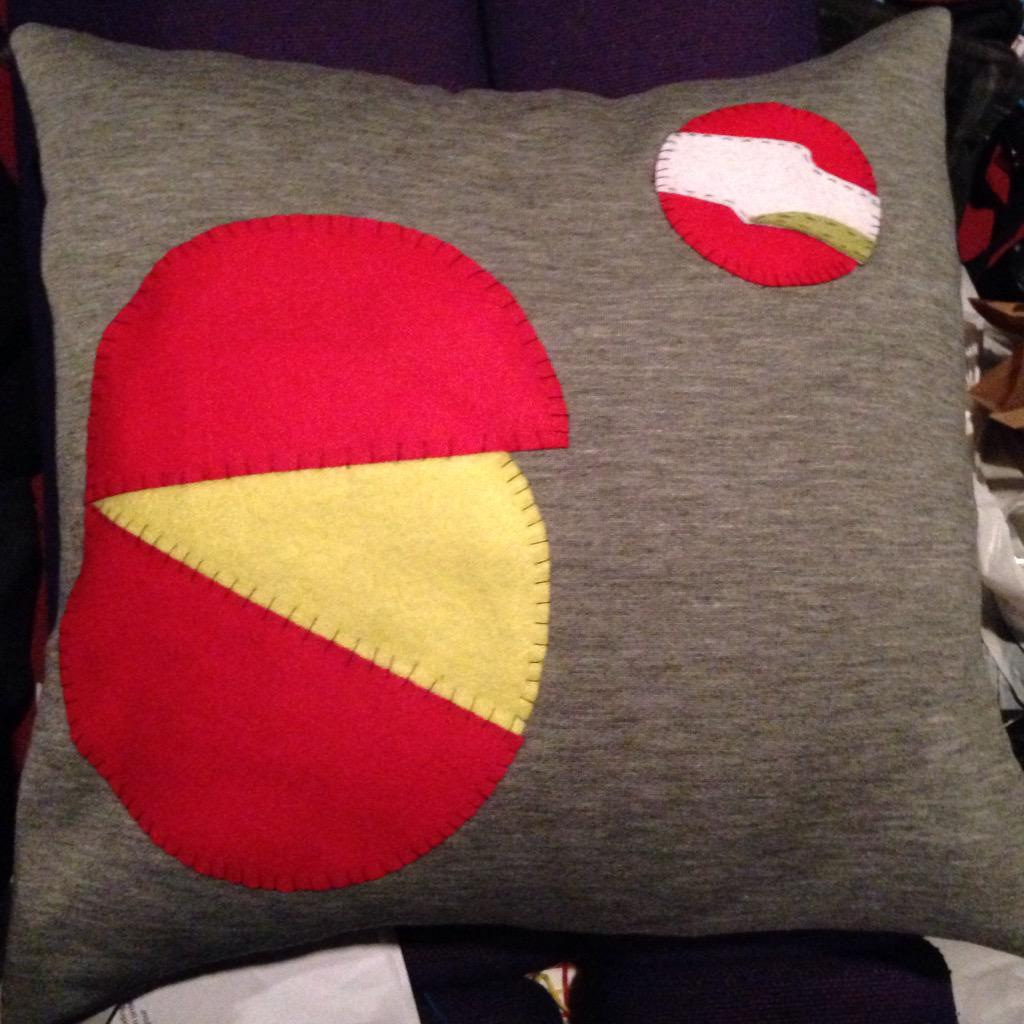 RT @laurajsorensen: Next cushion - Babybels, in response to @watsoncomedian hatred of them. #watson27 http://t.co/OuLgWVmfxj