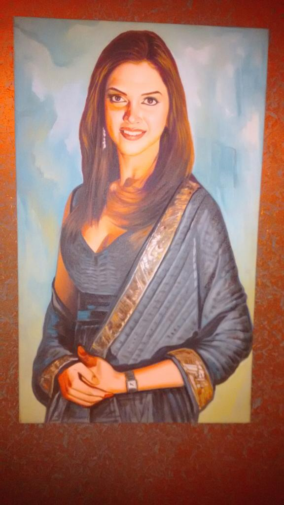 Love this painting of @deepikapadukone I picked up today from #HauzKhasVillage. Perfect for my Bollywood home. http://t.co/fUBKdSZpqs
