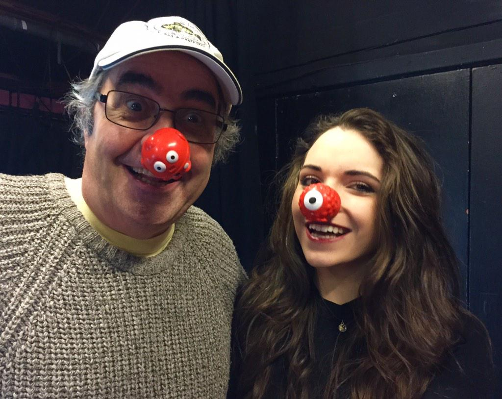 RT @rednoseday: It's only @prodnose & daughter @Mancie_Baker live on stage now. Watch http://t.co/5XXbOCI3nL #watson27 http://t.co/SUOr5Txu…