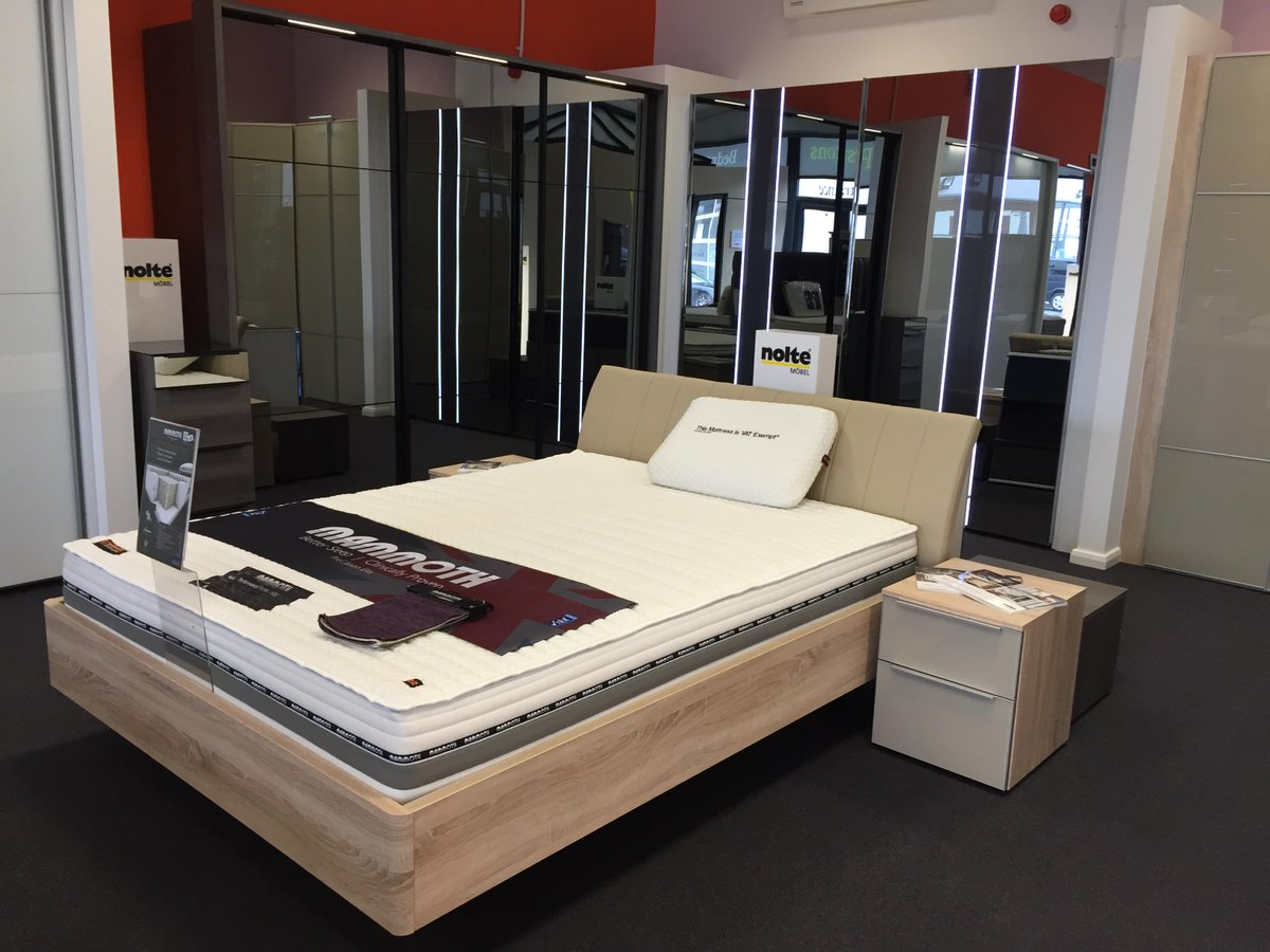 Prestons Kitchens Ar Twitter The Bedroom Display In Our Showroom With Mammoth Mattresses Clinically Proven To Give You A Better Night Sleep Http T Co Hej1xdiqqs