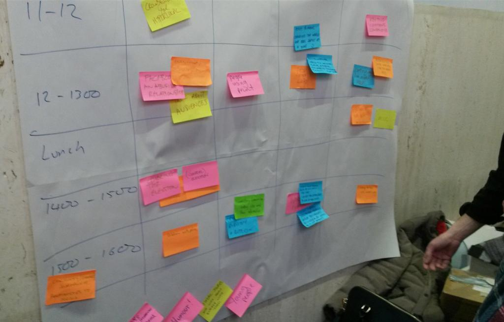DIY agenda for #TAL15 #hyperlocal unconference at British Library http://t.co/ek699fUUm4