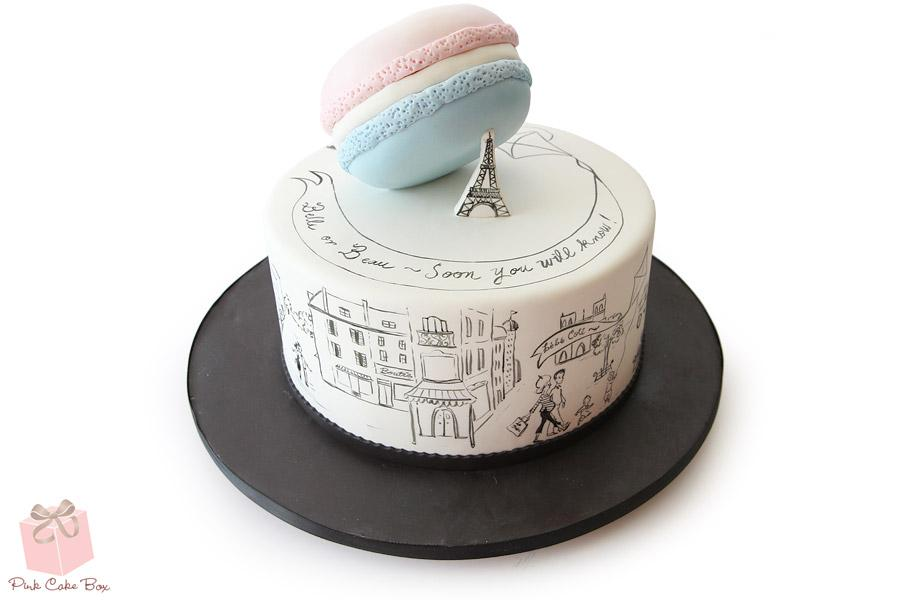 Gender reveal Parisian themed cake!  http://t.co/a3n1thHV18 http://t.co/dYZFPLCQIN