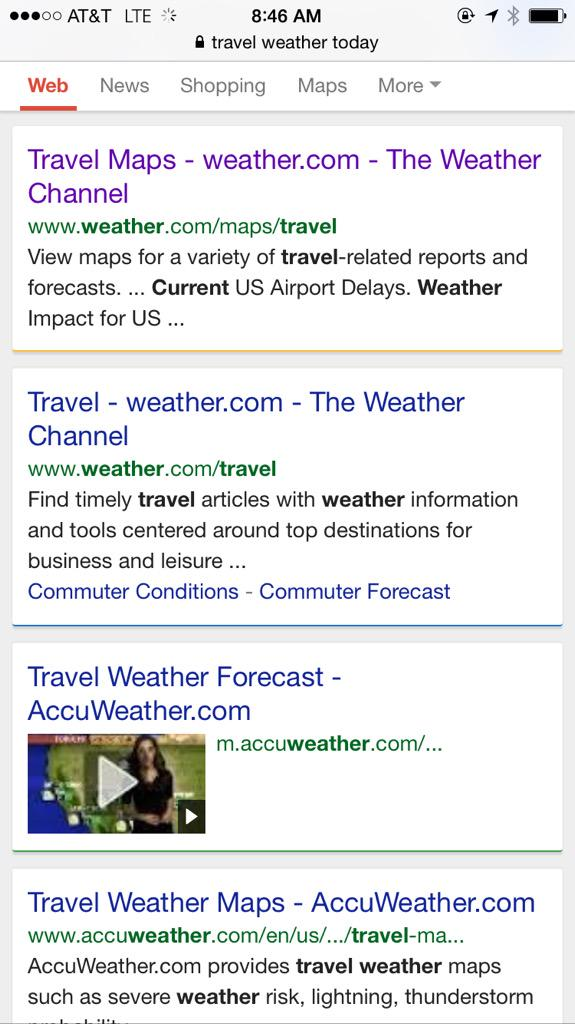 Google experimenting with multi-colored search results on mobile.