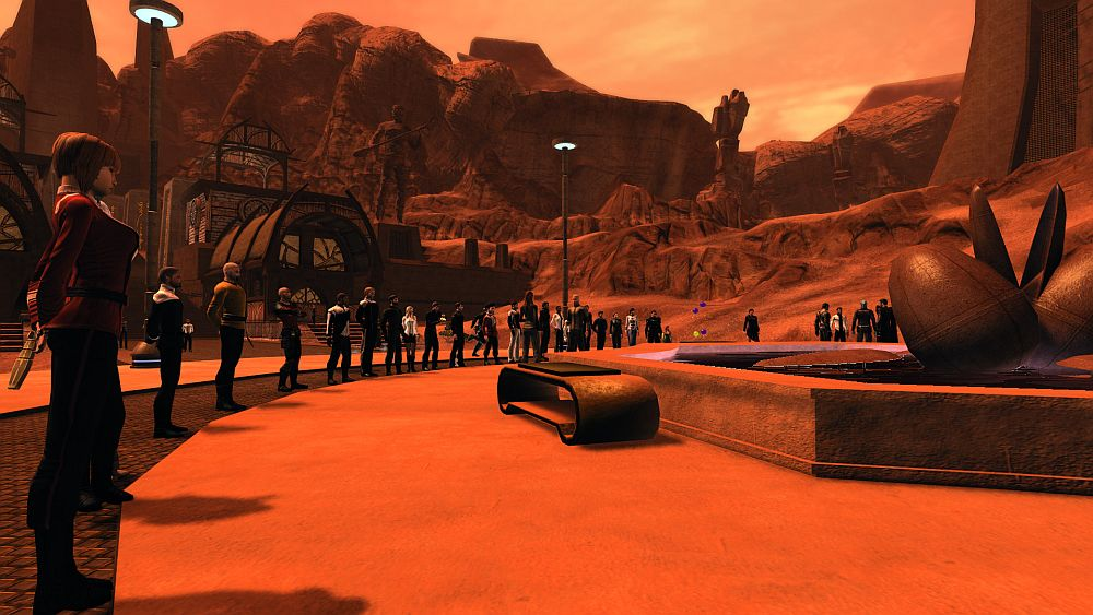#StarTrekOnline players gather on Vulcan to pay respects to Leonard Nimoy.  http://t.co/UAETkXRzPB http://t.co/A2ZzYS7hAL
