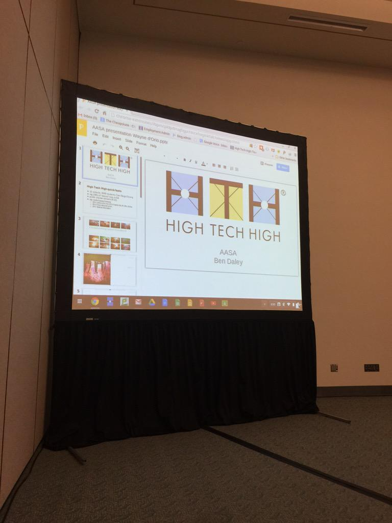 @JWPBulldog: Come join us in Room 26A for High Tech High. #NCE15 http://t.co/98q4eFyGK6
