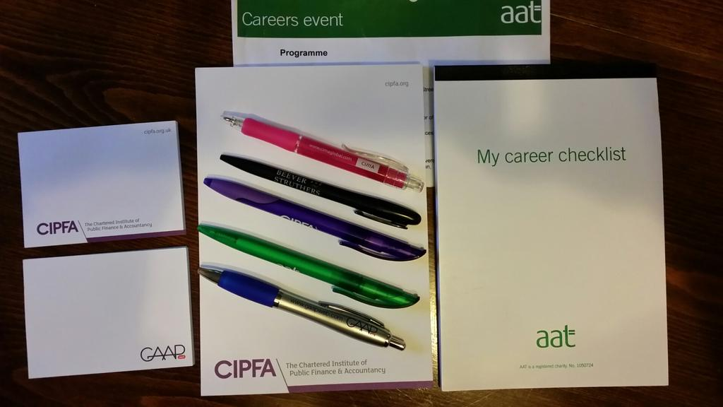 In addition to the amazing advice and ideas from the #AAT careers event I also got some stationery! #bonus! http://t.co/YcubDXUZ9F