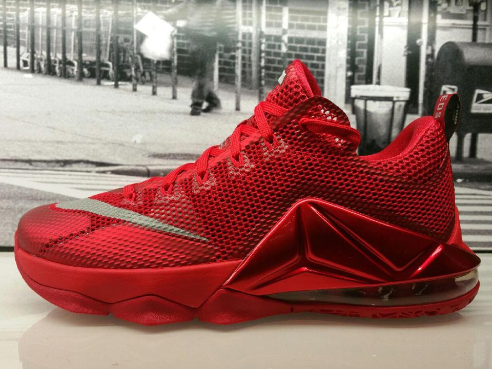 0aca900f879c  footlocker 4 years. the all over red nike lebron 12 low now available in  stores check here for stores