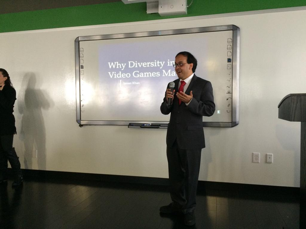 Imran presenting title slide
