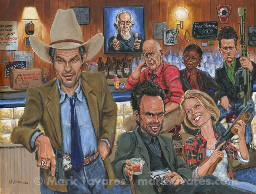 Ode To Justified' by Mark Tavares.  Print given to cast & crew @ the Justified wrap party.  http://t.co/2xeonZL5ho http://t.co/77THQznlm8