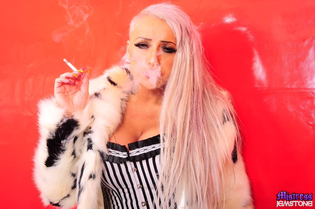 Mistress jemstone smoking question think