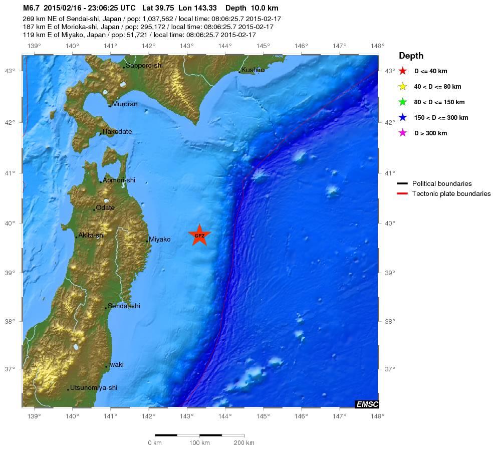 Terremoto Oggi Giappone