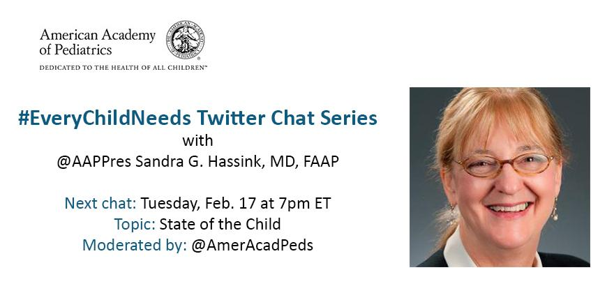 #Tweetiatricians: Join our #everychildneeds chat w/ @AAPPres tomorrow 2/17 @ 7pm ET. Help spread the word! http://t.co/ZEmgXZE6j8
