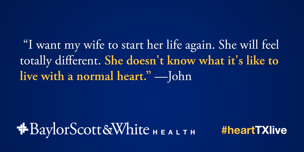 Jane's husband, John, had this to say earlier today. We are all cheering her on. #HeartTXLive http://t.co/BSPrxE1NG3