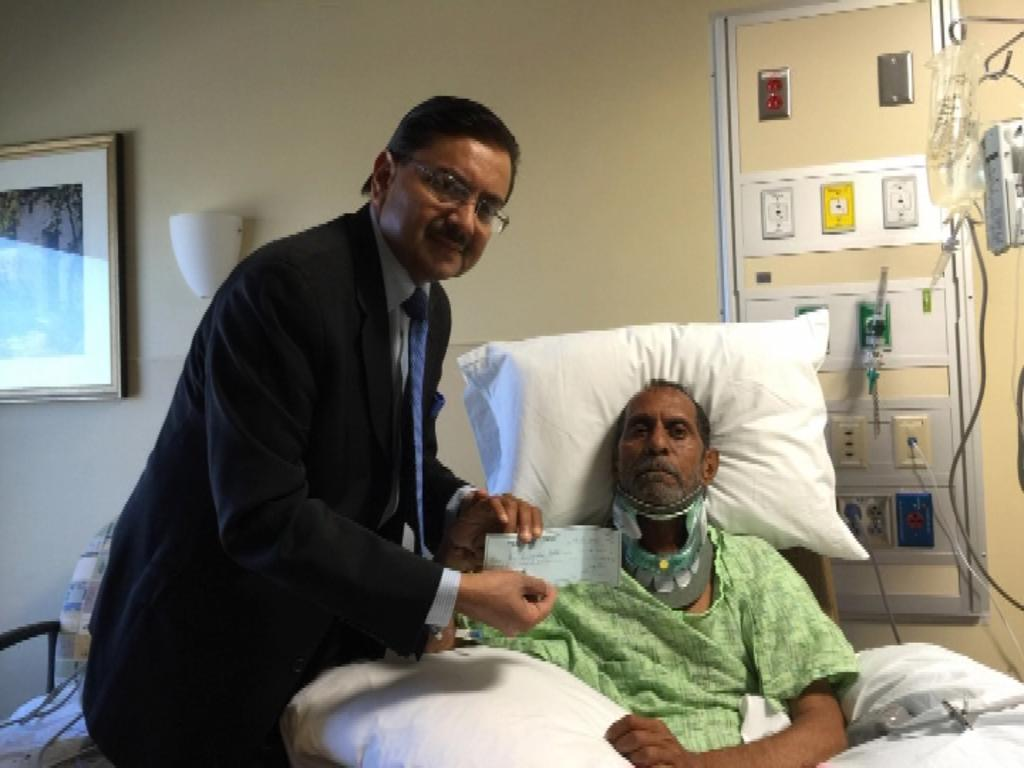 Indian Consul General in Atlanta, Ajit Kumar met Sureshbhai Patel who was attacked by US policeman #WorseThanRacism