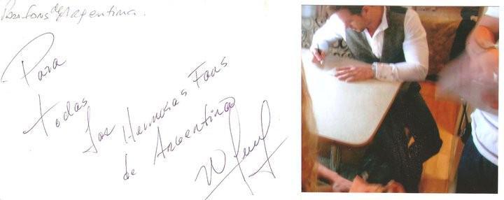Gracias a @AyosMonica mientras grababan TDA @willylevy29 nos mando este regalo a todas las Argentinas!! GRACIAS http://t.co/nU7EmTrdc5