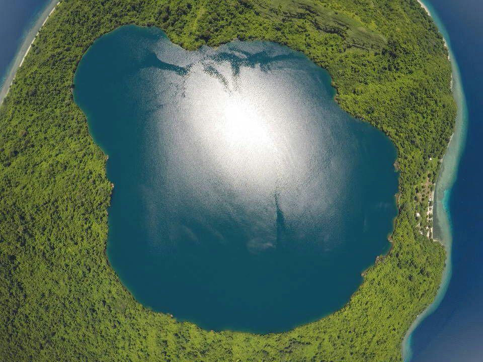 Danau Satonda dari atas | NGtraveler