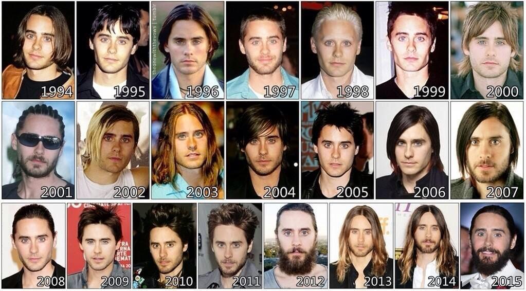 hair styles through the years