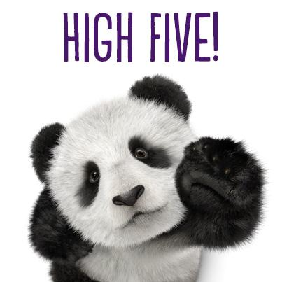 panda high five Plants and Animals Clip Art Plants and Animals Clip Art