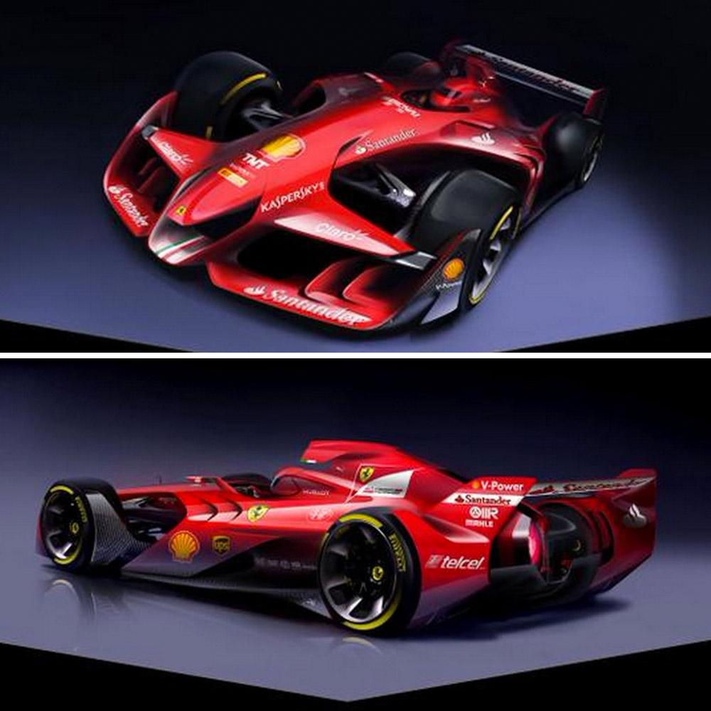 Future Ferrari: Ferrari Unveil Design Concept For The Formula One Car Of
